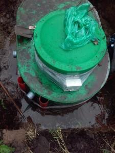монтаж септика Альта- био 5 лоу при высоком уровне грунтовых вод