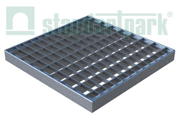 Решетка стальная Basic (ячеистая) к дождеприемнику 300x300