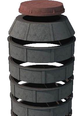 Выгребная яма из полимеропесчанных колец