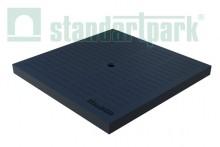 Крышка PolyMax Basic пластиковая (черная) к дождеприемнику 300x300