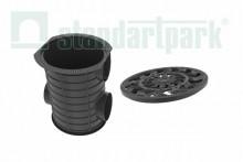 Комплект: Дождесборник S'park ДС-25-ПП круглый пластиковый с решеткой водоприемной пластиковой кл. А